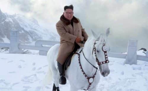 Kim Jong Un Climbs Mountain, Threatens to 'Strike the World With Wonder'