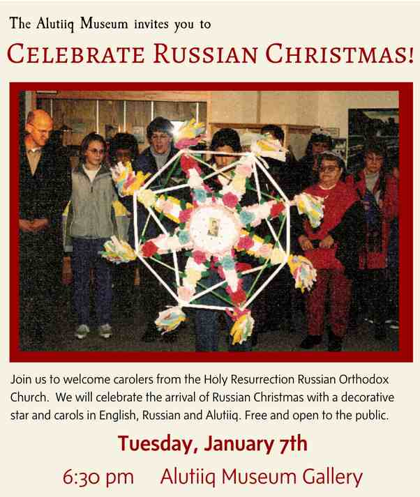 Russian Christmas 2020 In Us The Alutiiq Museum Invites You to Celebrate Russian Christmas