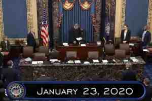 Trump's impeachment trial in the Senate. Image-VOA