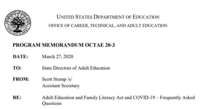 PUBLIC NOTICE: Alaska Adult Education FY 2021 Grant Solicitation Suspended