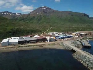 Trident Seafoods processing facility in False Pass. Image-Trident Seafoods