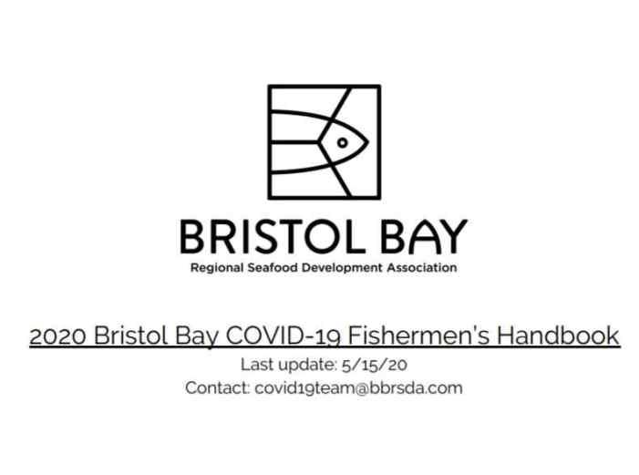 BBRSDA Issues its Own COVID-19 Fishermen's Handbook