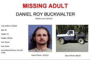 Daniel Buckwalter and his vehicle as seen in the 2015 Missing Persons poster