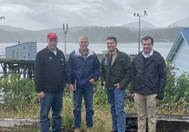 Senator Stedman attends tour of Fairweather dock