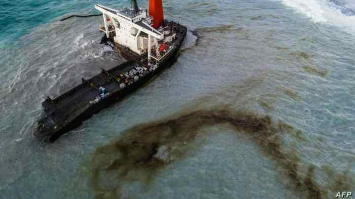Japan-Owned Oil Tanker Breaks Apart off Mauritius Coast
