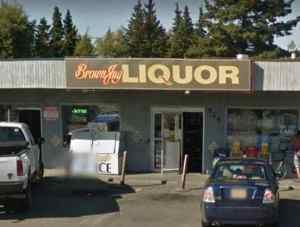 Brown Jug Liquor on Fireweed Lane in Anchorage. Image-Google Maps
