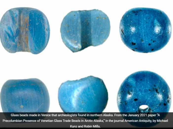 Blue beads in the tundra: The first U.S. import from Europe?