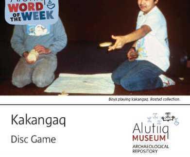 Disc Game-Alutiiq Word  of the Week-February 28th