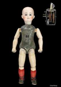 This late 1800s talking doll by Thomas Edison, inventor of the lightbulb, was a commercial failure. (Courtesy Smithsonian National Museum of American History)