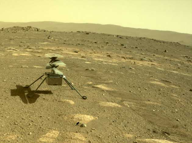 NASA's Mars Helicopter Survives First Cold Martian Night on Its Own