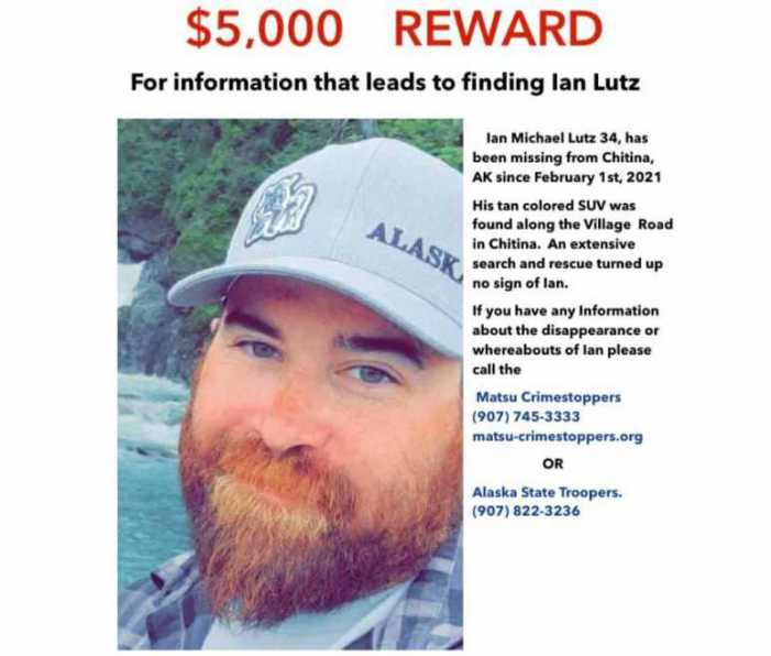 Remains Located in Chitina are Confirmed to be those of Ian Lutz, Missing since February