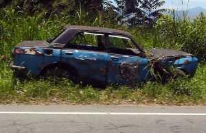 Abandoned vehicle. Image-Rehman Abubakr/Wikipedia