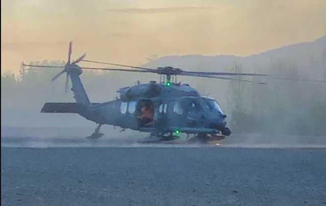 Alaska Air National Guard, civil SAR partners rescue injured hiker from snow slide