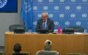 UN press conference on Haiti situation. Image-UN video screengrab