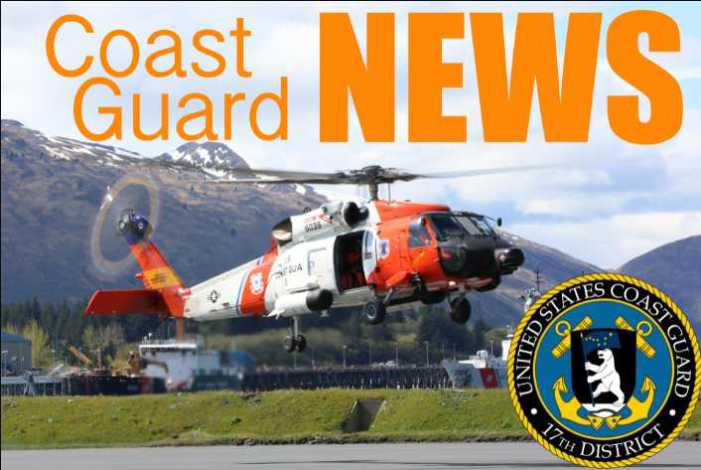 Coast Guard assists two from vessel taking on water near Slocum Arm