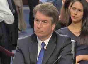 Supreme court nominee Brett Kavanaugh at Senate hearing. Image-Internet screenshot