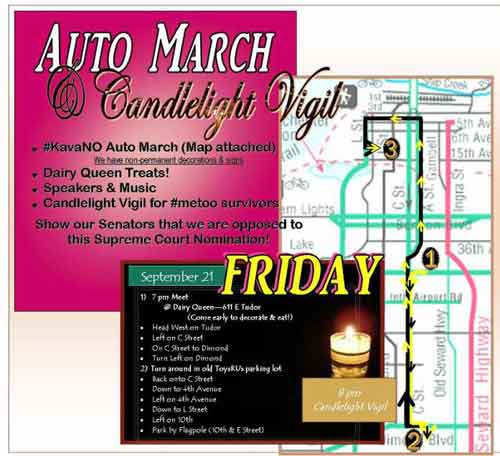 KavaNO Auto March and Candlelight Vigil