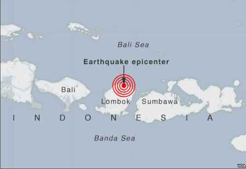 Deady Earthquake Rocks Indonesia Lombok Island