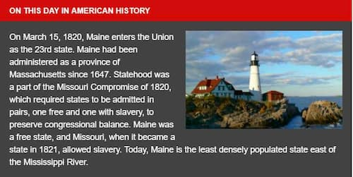 March 15th, 1820