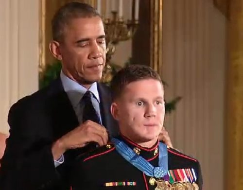 Cpl William Carpenter Receives Medal of Honor During Thursday White House Ceremony