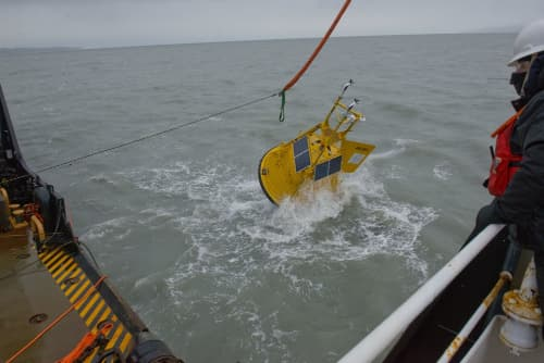 Coast Guard, NOAA Install New Buoy at Hinchinbrook Entrance
