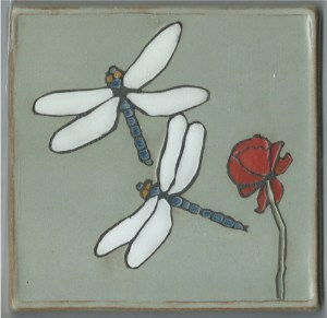 Dragonflies and Rose