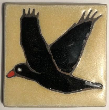 Flying Raven Art Tile