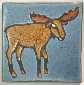 """4"""" Moose Art Tile"""