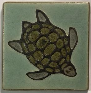Sea Turtle Art Tile