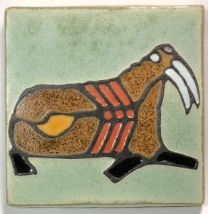 "4"" Walrus Art Tile"
