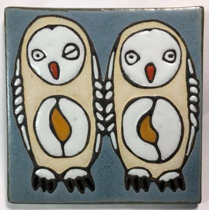 "6"" Owls Art Tile"