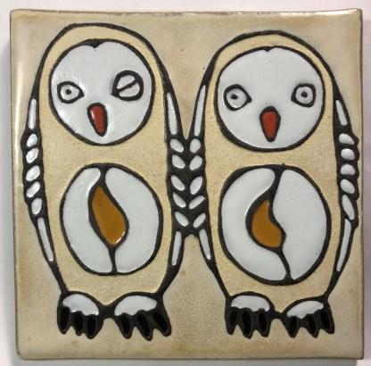 "6"" Owls Art Tile"