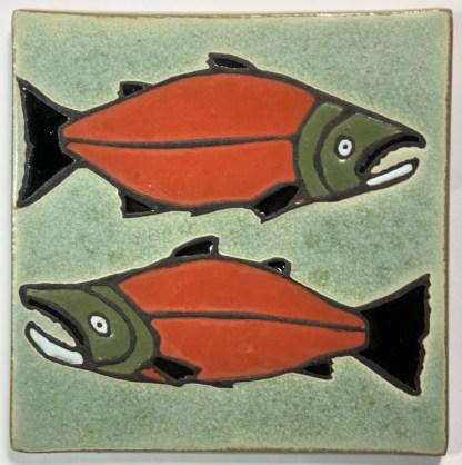 """6"""" Salmon Art Tile"""