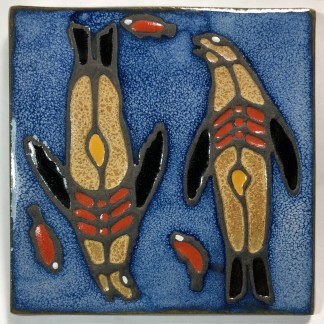 "6"" Sea Lion Art Tile"