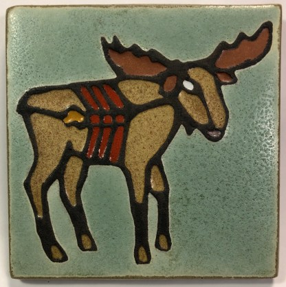 xray moose tile green