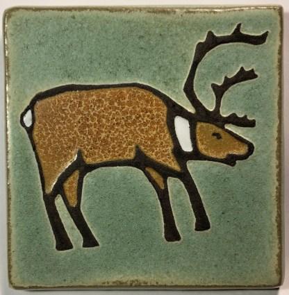 "4"" Caribou Art Tile"