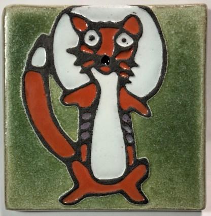 """4"""" Fox Art Tile"""