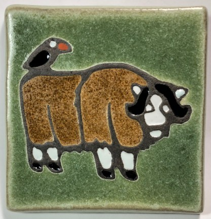 "4"" Musk Ox Art Tile"