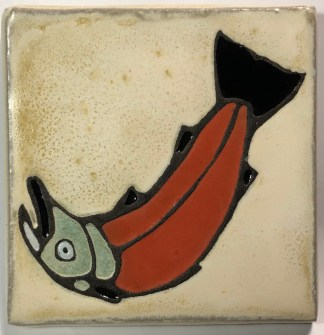 "4"" Salmon Art Tile"