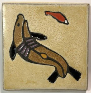 "4"" Seal Art Tile"