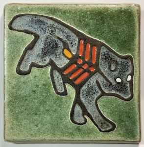 "4"" X-ray Style Wolf Tile"