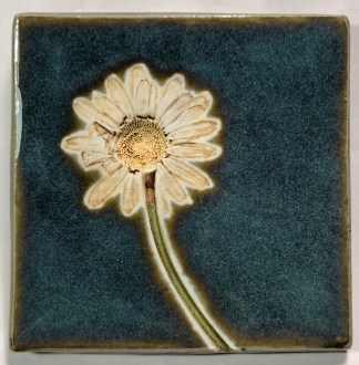 "4"" Daisy Impression Tile"