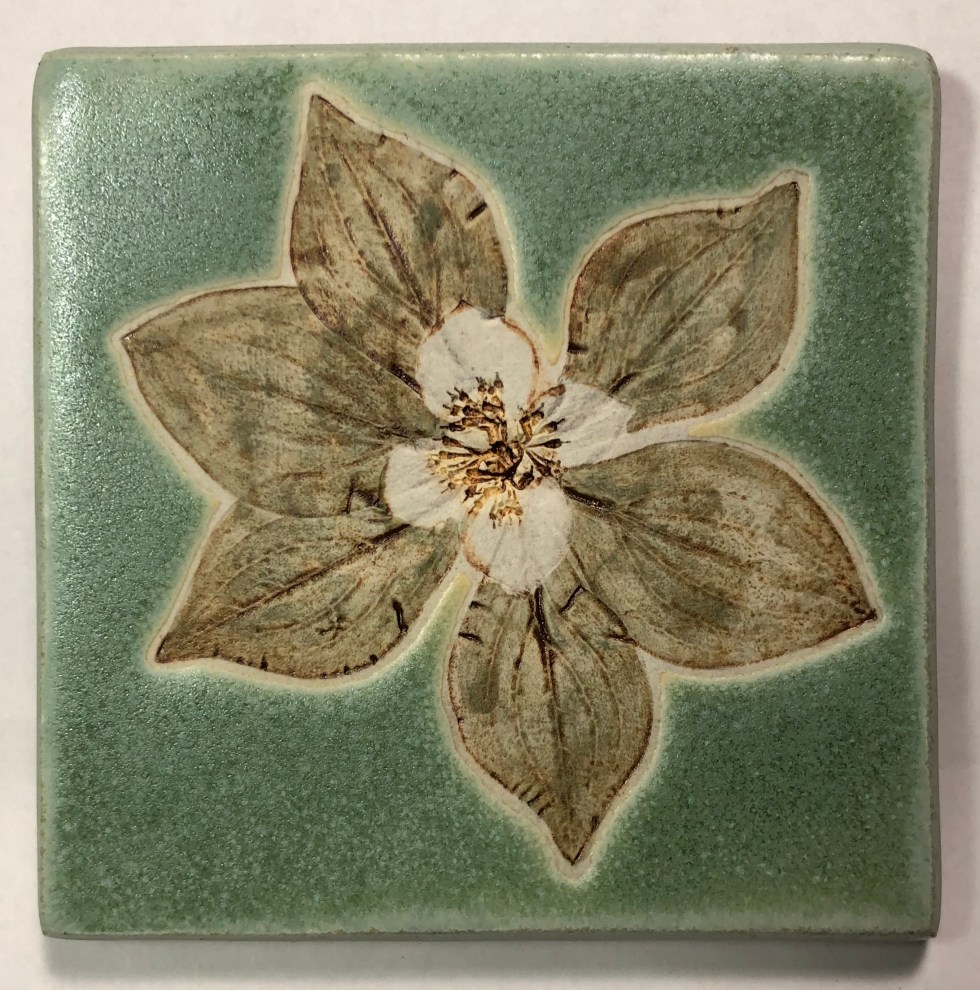 "4"" Dogwood Art Tile"