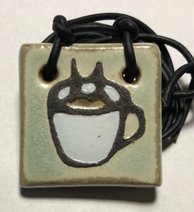 "1-1/2"" Coffee Cup Pendant"