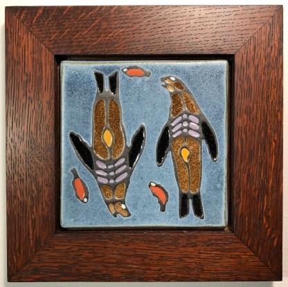 "6"" Sea Lions with Oak Frame"
