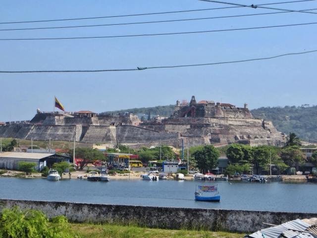 San Felipe de Barajas hotellimme kattoterassilta nähtynä