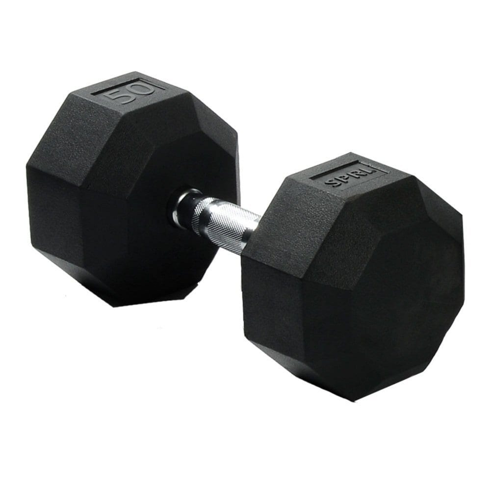 Deluxe Rubber Dumbbells – 50lb