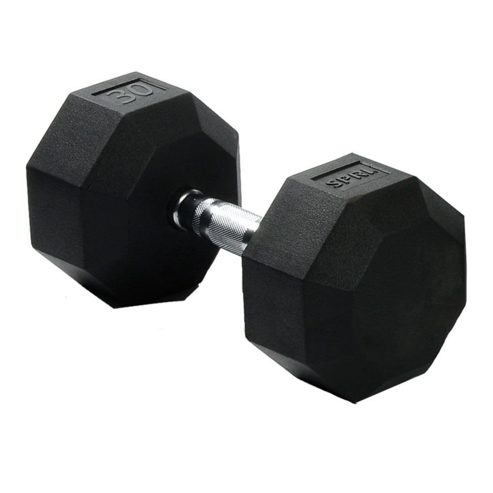Deluxe Rubber Dumbbells – 30lb
