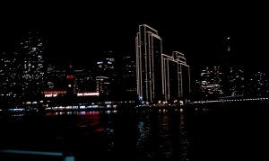 San Francisco at Night from Sausalito Ferry