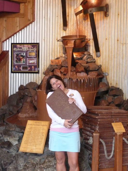 Me and the Chocoloate Fall at Alaska Wild Berry Products